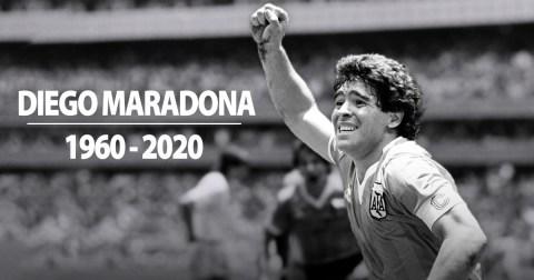 Foto Diego maradona, Diego maradona meninggal, legenda sepakbola, pesepakbola dunia