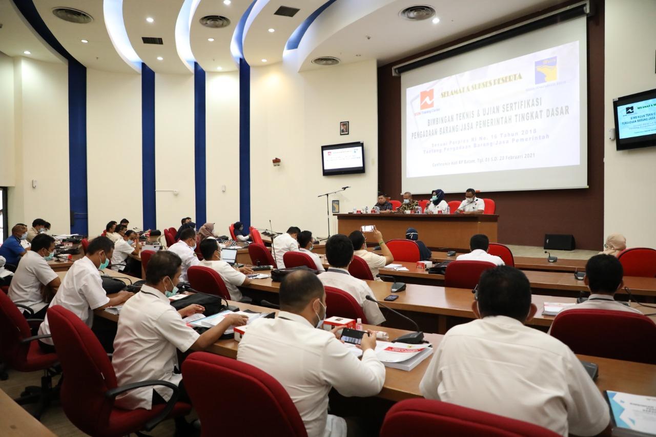 Foto bimtek bp batam, Bimtek pegawai BP Batam, BP Batam, Pegawai BP Batam, ujian sertifikasi bp batam