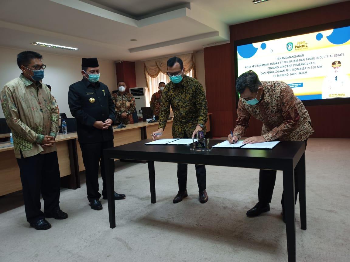 Foto gubernur kepri ansar ahmad, Pltu biomassa tanjungsauh, pltu tanjung sauh