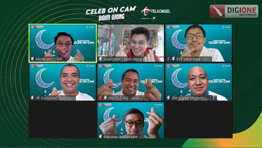 Foto baim wong, celeb on cam, Ngobrol Bareng Baim Wong, Telkomsel, Telkomsel Gelar Celeb on Cam
