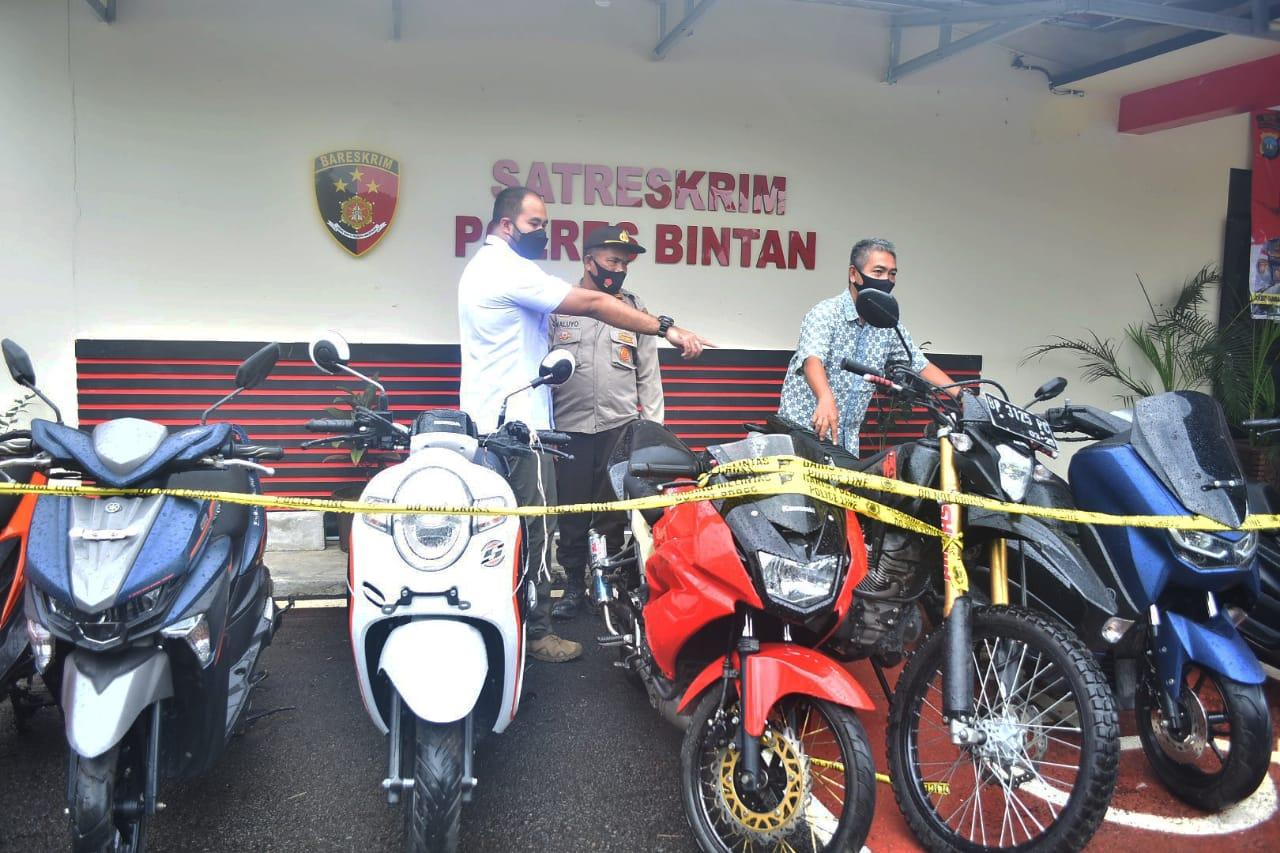 Foto Bintan, Curanmor, Headline, pelaku penggelapan motor, Penggelapan sepeda Motor, polisi ringkus curanmor, polres bintan