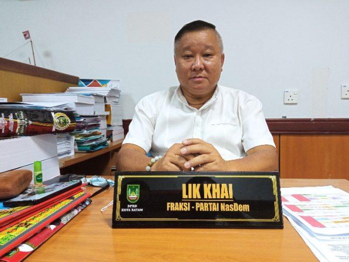 Foto anggota DPRD batam Lik Khai, Batam, Komisi I DPRD Batam, Kota Batam, Lik Khai, Pejabat OPD Batam, Seleksi pejabat OPD