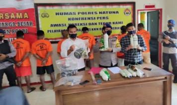 Foto illegal fishing, natuna, pengebom ikan, perairan midai, polisi tangkap pengebom ikan, Polres Natuna, Satpolairud natuna