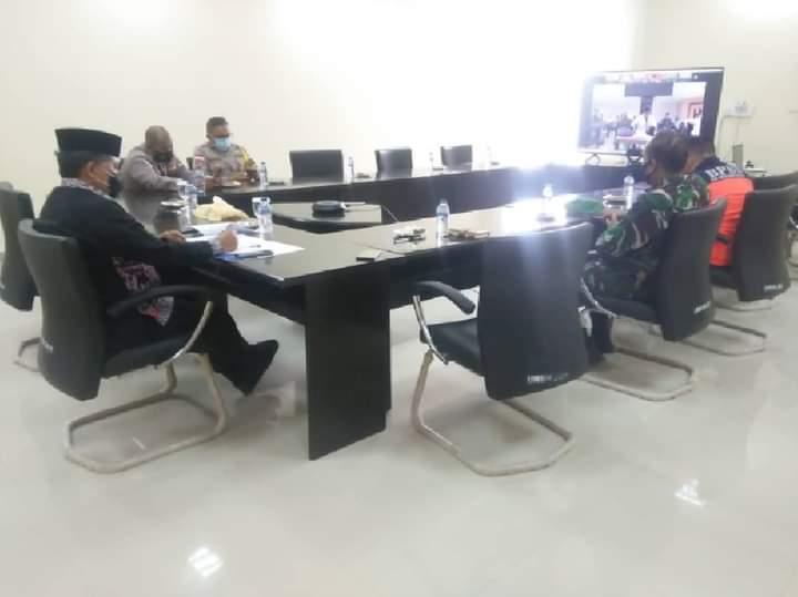Foto Anambas, KKA, rapat evaluasi penanganan covid, Wakil bupati anambas, wakil bupati kka, wan zuhendra