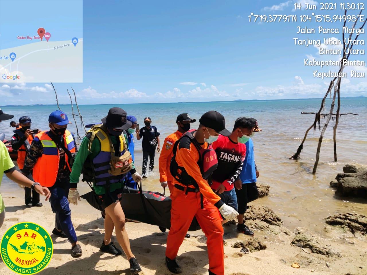 Foto pantai tanjung uban, pemancing di tanjung uban, Pemancing terseret arus, TIM SAR evakuasi nelayan, Tim SAR Gabungan