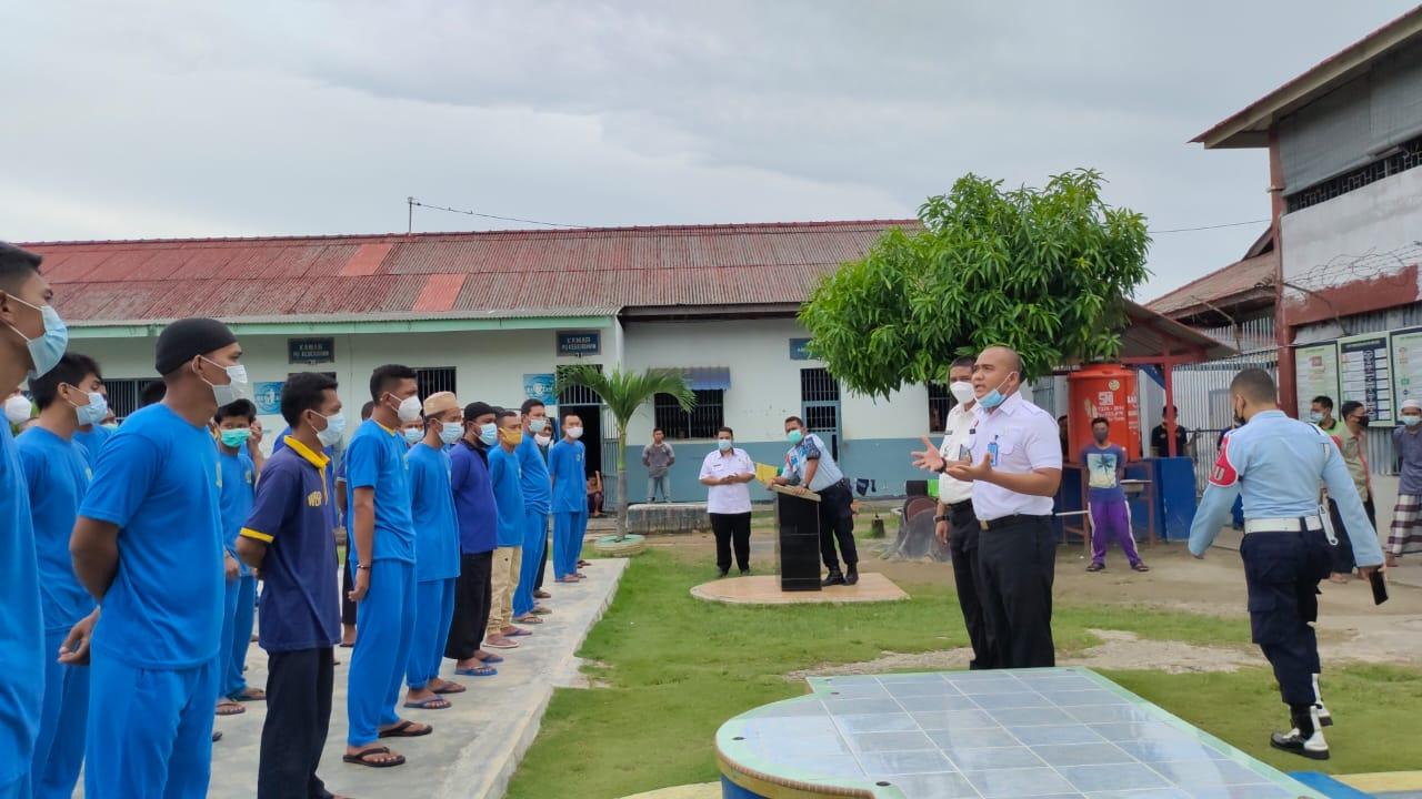 Foto karimun, puluhan warga binaan, Rutan Karimun, Sambut hani 2021, warga binaan karimun