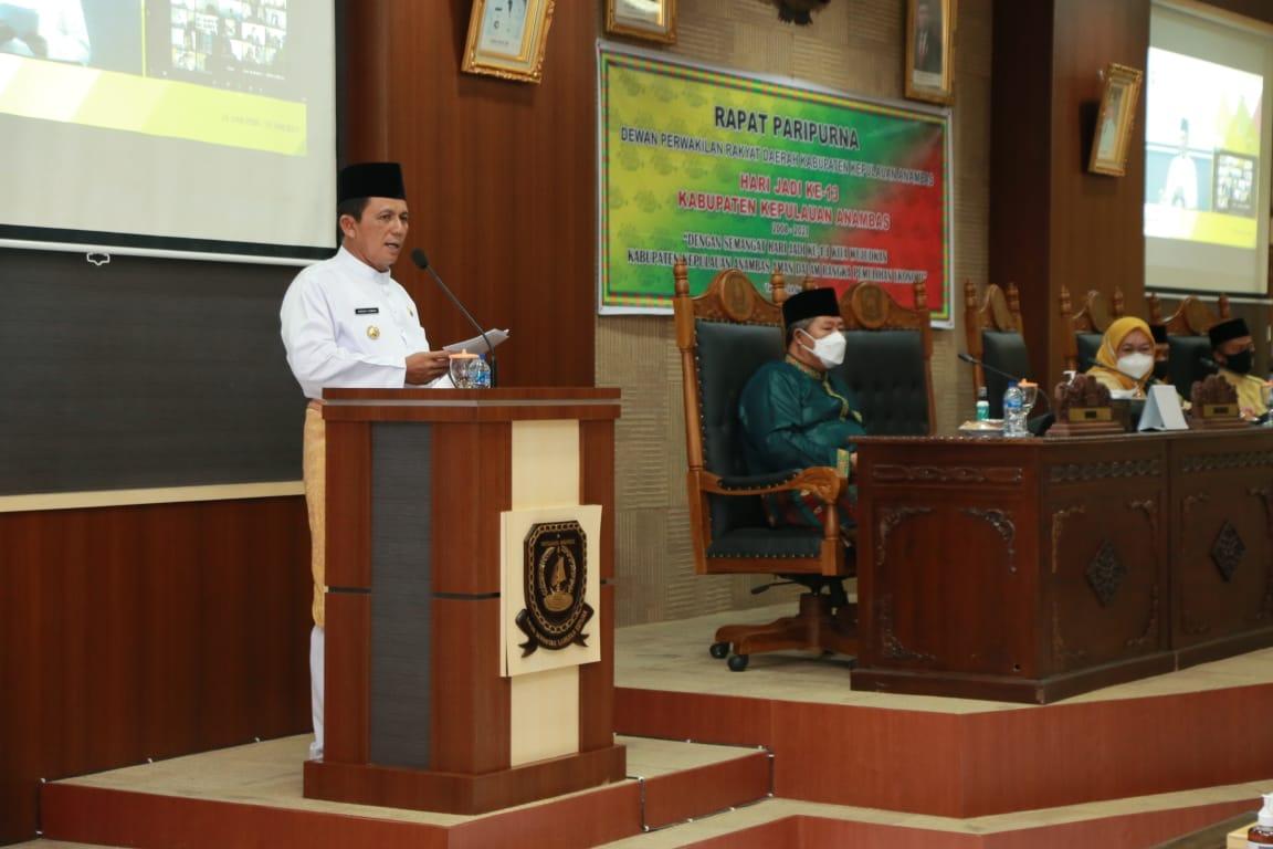 Foto Anambas, Ansar Ahmad, gubernur ansar, Kab Anambas, paripurna kab anambas