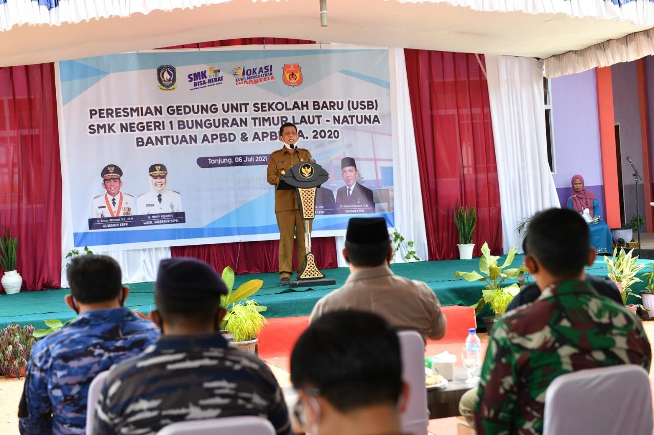 Foto Anggota DPRD Natuna, Ansar Ahmad, Bunguran timur, gubernur ansar ahmad, natuna, USB SMKN 1 Bunguran Timur Laut