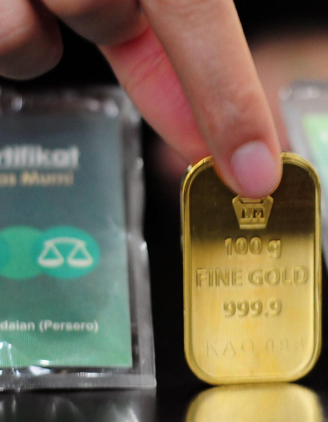 Foto emas antam, Emas Batangan, Harga Emas